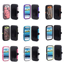 Defender Case With Build in Screen Protector w/Belt Clip For Samsung Galaxy S3