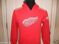 New Youth w/Tags Detroit Red Wings Majestic Long Sleeve Hooded Sweatshirt Hoodie
