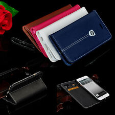 2014 Wallet Flip PU Leather Card Holde Stand Case Cover For iPhone 5 6 Plus