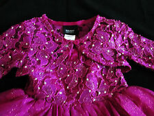Baby Girl Holiday Party Christmas Sparkly Dress 18 Mo 24 Mo Princess Violet  A76