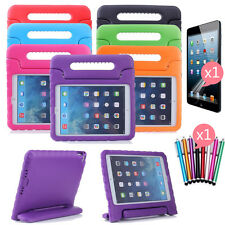 Kids Shock Proof Thick Foam EVA Handle Stand Case +Screen Cover +Pen for Tablets