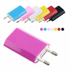10 Colors Mini EU European 5V 1A USB Home Power Charger For Cell Mobile Phones