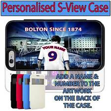 PERSONALISED UNOFICAL BOLTON WANDERERS iPHONE S VIEW FLIP CASE GIFT