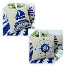 New Soft Nautical Throw Pillow Cushion Case Cover Home Car Room Bed Decor