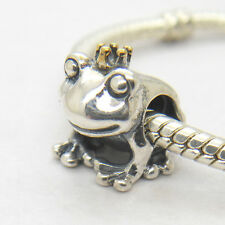 *New* Frog Prince 925 Sterling Silver with 14k Gold Two Tone Charm bead