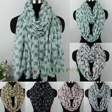 Fashion Womens Cute Elephant Print Soft Long Scarf Wrap Shawl/Infinity Scarf New