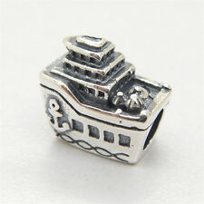 New All Aboard Ship Boat Sterling Silver Charm Bead For European style Bracelets