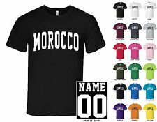 Country of Morocco College Letters Custom Name & Number Personalized T-Shirt
