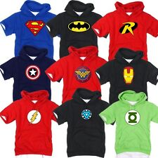 Superhero FILM Marvel DC COMICS Batman Superman Flash GL Hoodie TShirts Hoody A