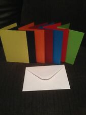 CARD BLANKS PRE SCORED A7 U CHOOSE COLOUR AND QUANTITY WITH WHITE ENVELOPES