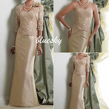 Mother of the Bride/Groom outfits Lace Jacket Formal Evening Bridal Gowns Custom