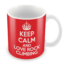 KEEP CALM And Love Rock Climbing Mug - Coffee Cup Gift Idea present sports