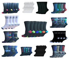 6 And 12 Pairs Designer Mens Socks, Cotton Rich Poly Cotton Mens Socks Size 6-11