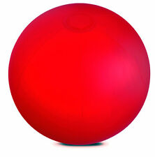 """INFLATABLE RED 10"""" BEACH BALL SWIMMING POOL CHILDS PARTY HOLIDAY GARDEN TOY SEA"""