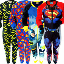 Boys Character Onesie Pyjama Pj All In One Cartoon Marvel Comic Gift Kids Fleece
