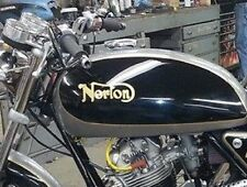 Norton Gas Tank Decals Two Pack Black or Gold Commando Interstate etc.