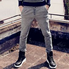 Men wild Cotton Casual slim Brushed Pencil pants Micro-bomb  Long trousers