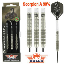 BULLS SCORPION 90% TUNGSTEN DARTS SET, Style A, Heavy Knurl, 21-25 grams