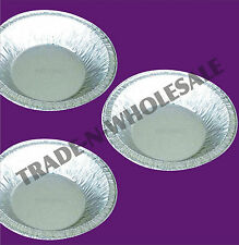INDIVIDUAL SMALL FOIL PIE DISHES, CASES, DISPOSABLE TRAY, MINCE, CONTAINER ROUND