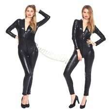 NEW Sexy Women Gothic Fetish Catsuit Jumpsuit Overall Bodysuit Clubwear Costume