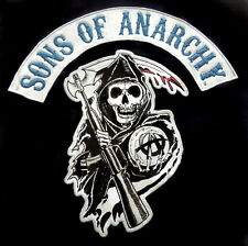 Sons Of Anarchy SOA Reaper Logo Licensed Authentic Biker Patch Adult T-Shirt Tee