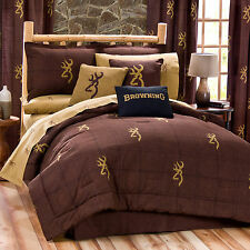 Browning® Burgundy Buckmark Comforter Set~Twin Full Queen King Sale! FREE SHIP