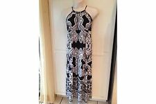 INC International Concepts Black & White Printed Maxi Dress Size OX -NWT