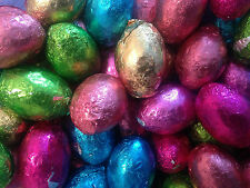 BRIGHTLY COLOURED CHOCOLATE FOIL EASTER EGGS WRAPPED  PICK YOUR OWN WEIGHT