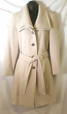 CALVIN KLEIN Double Collar Belted Wool Trench Coat BNWT $320 Petites Sz 6,8,10
