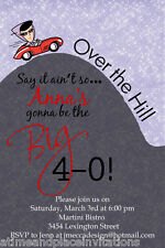 Over the Hill 30th 40th 50th 60th 70th Any Age Birthday Party Invitation Card