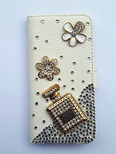 Bling Perfume Wallet Card Holder PU Leather Flip Case Cover for Samsung 2