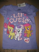 NWT MY LITTLE PONY PURPLE LIL CUTIE SHIRT SIZE 4 4T I SHIP EVERYDAY