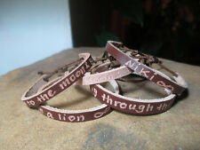 PERSONALIZED BROWN LEATHER BRACELET, SAY WHAT YOU WANT, UNISEX KIDS & ADULTS