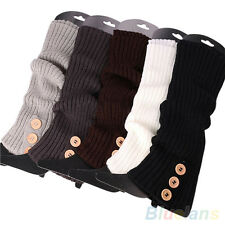 Women Perfect Choice Button Knit Leg Warmers Sock Legging Boot Shoes Stocking