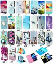 New Fashion Flip Printed  Hybrid Magnetic PU Leather Case TPU Cover For Samsung