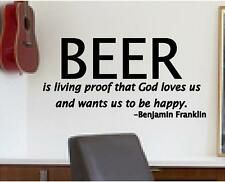 BEER is living proof that God loves us and wants us to be happy. Decals Stickers