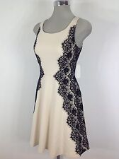 Jessica Simpson NEW w Tag Vanilla with side  Black Lace Dress