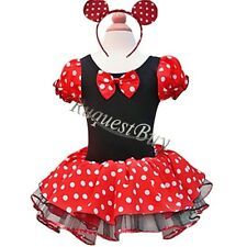 Kids Girls Baby Toddler Minnie Mouse Party Costume Ballet Tutu Dress + Headband