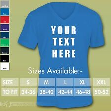 Custom Personalised Design Your Own V-Neck T-Shirt Stag Holiday Tour- Mens