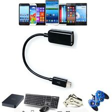 USB Host OTG Adaptor Adapter Cable For Motorola Droid 4 MB865 Atrix 2 HTC One M7