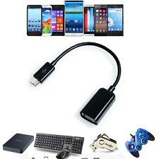 USB 2.0 Host OTG Adapter Cable Cord For Samsung Galaxy S2 S II S3 S III S4 Phone