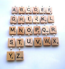 WOODEN SCRABBLE NECKLACE AND PENDANT - FREE AND FAST P&P + ORGANZA BAG