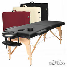 Portable Massage Table - Spa Facial Tattoo & Reiki Bed w/ Carrying Case