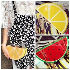 Designer Fruit Style Perspex Handbag Clutch Hard Case Chain Shoulder Bag Purse