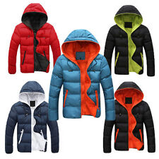 Handsome Men's Hooded Outers Coats Winter Jackets Warm Padded Parka Outwear Tops