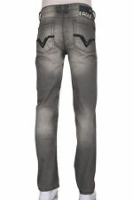 Mens Eagle Slim straight heavy stitching Low rise Colored Grey jeans 100% Cotton