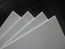 White Plasticard Styrene Sheet High Impact Polystyrene HIPS A5-A3, 0.5mm to 3mm