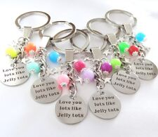Love you lots like Jelly Tots KEYRING,Birthday,Christmas,gift,girl,boy,sister