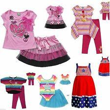 """NEW-DOLLIE & ME American Girl 18"""" Doll MATCHING Girl OUTFIT Set-4-8-Summer Pink+"""