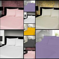 Luxury 4-PC 100% Brushed Cotton Thermal Flannelette Sheet Set In All Sizes